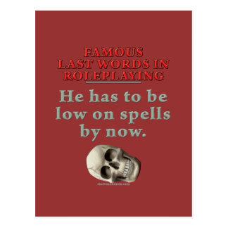 Palabras pasadas famosas en el Roleplaying: Tarjetas Postales