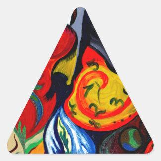 Palabras Pegatina Triangular