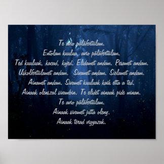 Palabras rituales cárpatas póster