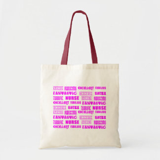 Palabras rosadas frescas del positivo de las enfer bolsa de mano