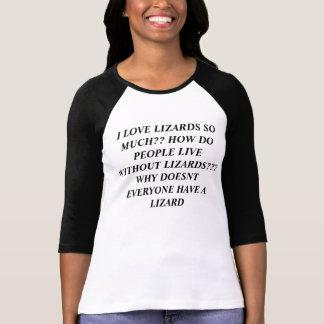 Palabras sobre lagartos camiseta
