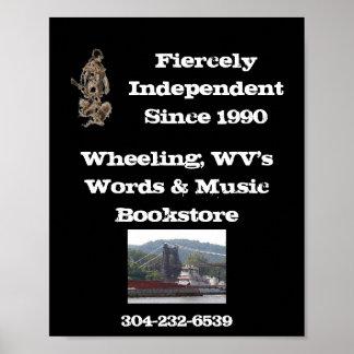 palabras y poster de la librería de la música que