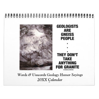 Palabras y refranes 20XX del humor de la geología Calendarios De Pared