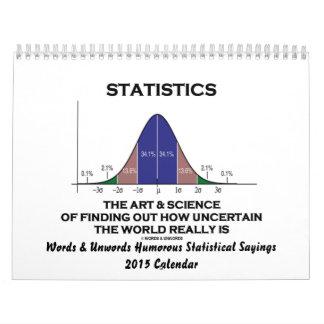 Palabras y refranes estadísticos chistosos 2015 de calendario de pared