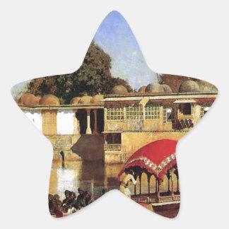 Palace and Lake at Sarket Ahmedabad, India Star Sticker