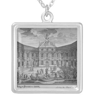 Palace at Munich, Germany Silver Plated Necklace