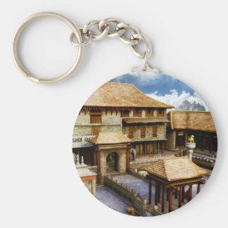 Palace Basic Round Button Keychain