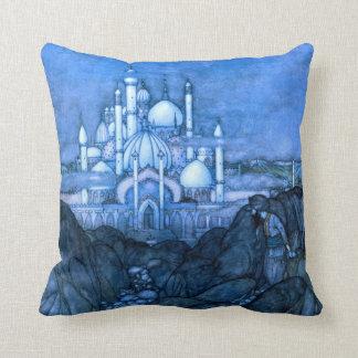 Palace Edmun Dulac Architecture Arabian Nights Throw Pillow
