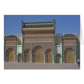 Palace, Fez, Morocco, Africa Card