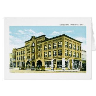 Palace Hotel, Crookston, Minnesota Greeting Card
