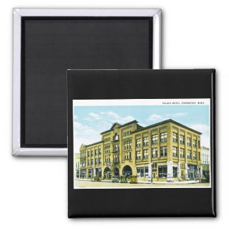 Palace Hotel, Crookston, Minnesota 2 Inch Square Magnet