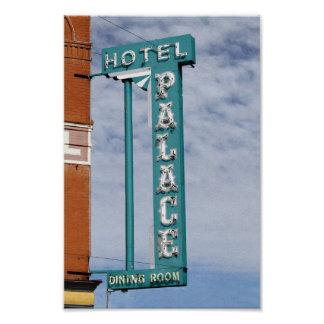 Palace Hotel Sign, Cripple Creek, Colorado Poster