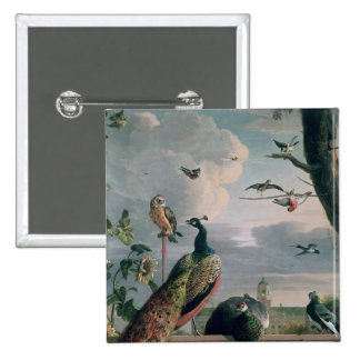 Palace of Amsterdam with Exotic Birds Button