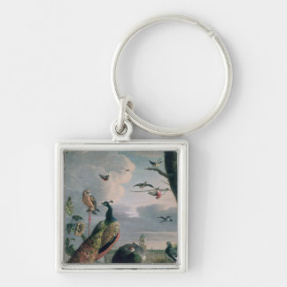 Palace of Amsterdam with Exotic Birds Keychain
