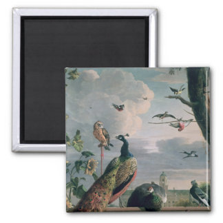 Palace of Amsterdam with Exotic Birds Fridge Magnet