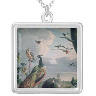 Palace of Amsterdam with Exotic Birds Silver Plated Necklace