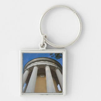 Palace of Czar Paul I, Temple of Friendship 2 Silver-Colored Square Keychain
