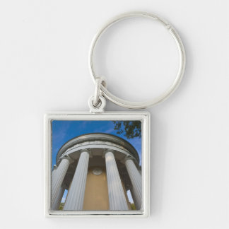 Palace of Czar Paul I, Temple of Friendship 3 Silver-Colored Square Keychain