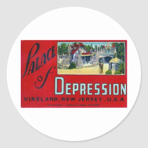 Palace of Depression Classic Round Sticker