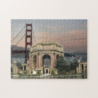 Palace Of Fine Arts And Golden Gate Bridge Jigsaw Puzzle