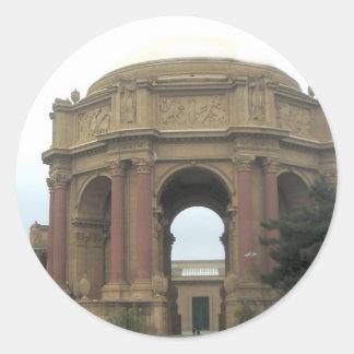 Palace of Fine Arts Closeup Classic Round Sticker