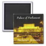 Palace of Parliament, Bucharest, Romania 2 Inch Square Magnet