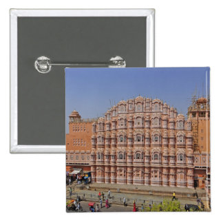 Palace of the Winds (Hawa Mahal), Jaipur, India, 2 Inch Square Button