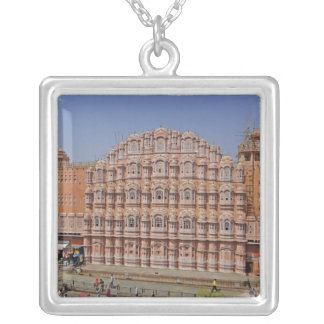 Palace of the Winds (Hawa Mahal), Jaipur, India, Square Pendant Necklace