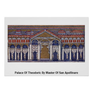 Palace Of Theodoric By Master Of San Apollinare Print