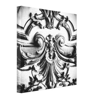 Palace of Versailles, Black and White Photograph Canvas Print