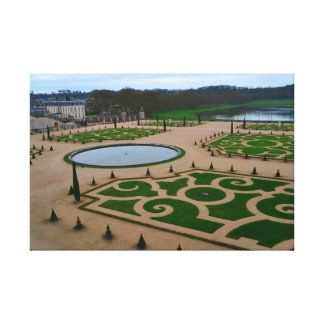 Palace of Versailles Garden in the Île-de-France r Canvas Print
