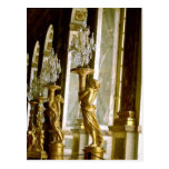 Palace of versailles Hall of mirrors Golden statue Post Cards