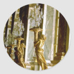 Palace of versailles Hall of mirrors Golden statue Sticker