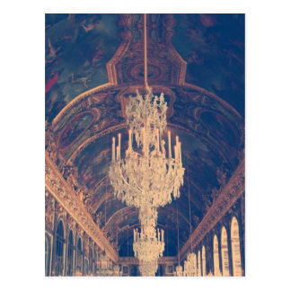 Palace of versailles-hall of mirrors postcard
