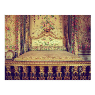 Palace of versailles queen's chamber postcard