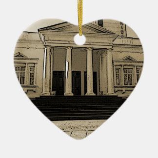 Palace of Weddings in Mozambique Double-Sided Heart Ceramic Christmas Ornament