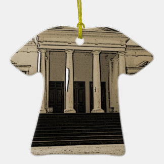 Palace of Weddings in Mozambique Double-Sided T-Shirt Ceramic Christmas Ornament