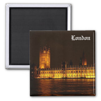 Palace of Westminster 2 Inch Square Magnet