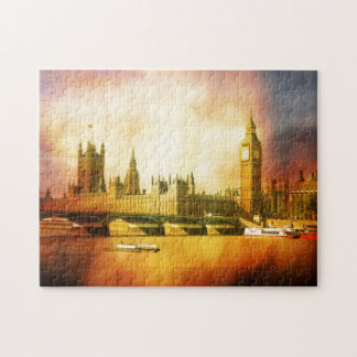 Palace of Westminster and Big Ben on the Thames Jigsaw Puzzles