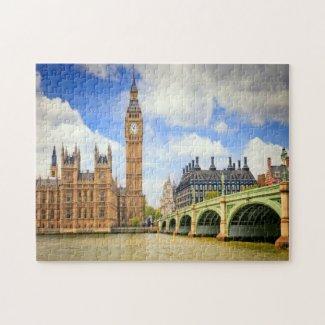Palace of Westminster Bridge London Jigsaw Puzzle