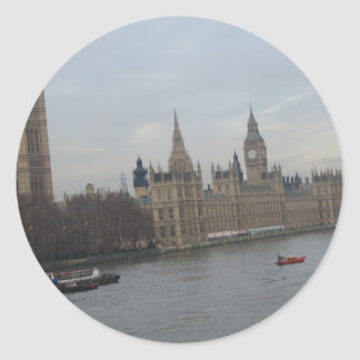 Palace Of Westminster Classic Round Sticker