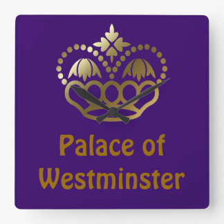 Palace of Westminster Square Wall Clock