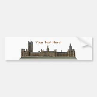 Palace of Westminster: Houses of Parliament: Bumper Sticker