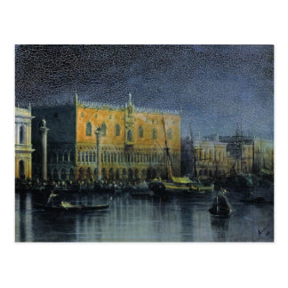 Palace rains in Venice by moonlight by  Aivazovsky Postcard