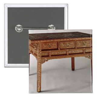 Palace table, Ming Dynasty, Hsuan Te Period 2 Inch Square Button