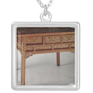 Palace table, Ming Dynasty, Hsuan Te Period Square Pendant Necklace