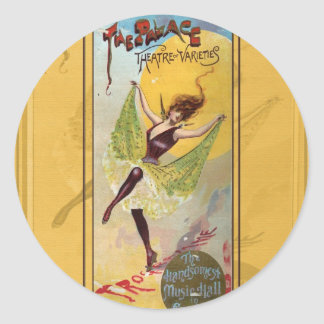 Palace Theatre of Varieties Classic Round Sticker