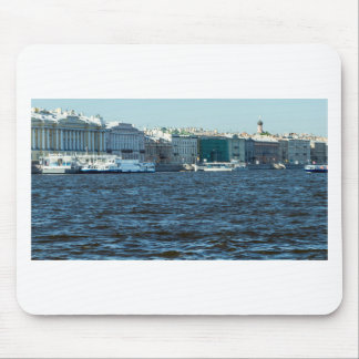 palaces on neva river St Petersburg Russia Mouse Pad