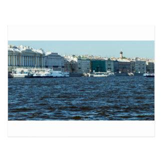 palaces on neva river St Petersburg Russia Postcard