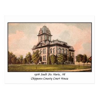 Palacio 1906 de Justicia de Chippewa Co. del vinta Postal